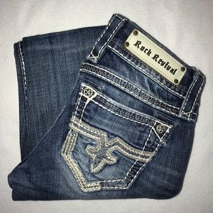 Rock Revival Jaclyn Embroidered Bootcut Jean 26 26